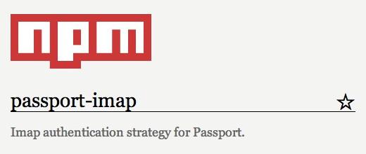 Passport-IMAP - IMAP authentication strategy for Passport